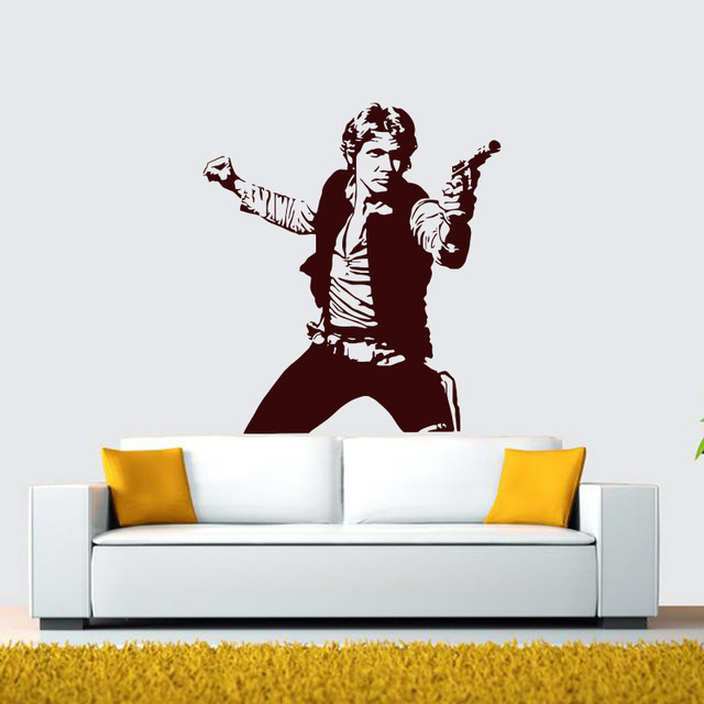 Star Wars Han Solo Vinyl Wall Stickers The Wall Art Self-Adhesive Room Of Science  sc 1 st  AliExpress.com & Star Wars Han Solo Vinyl Wall Stickers The Wall Art Self Adhesive ...