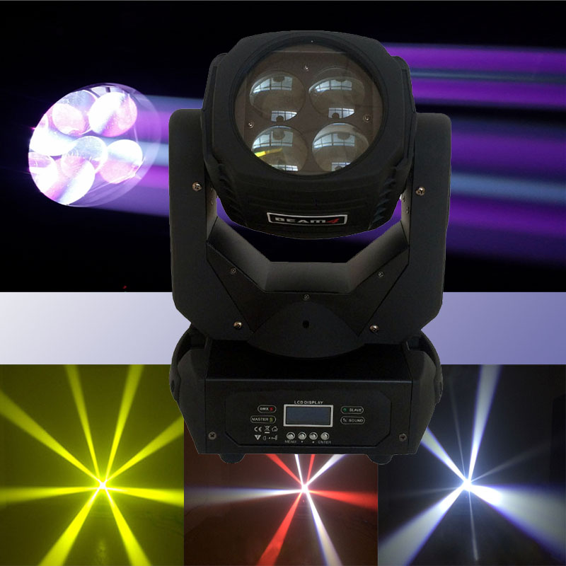 Super Beam Stage Lights 4x25W RGBW 4IN1 LED Moving Head Beam Light Bar Effect Led Stage Effect Lighting DJ Disco DMX Equipment
