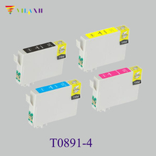 1Set T0891-4 Compatible Ink Cartridge For Epson T0891-T0894 For Epson Stylus S20 SX100 SX105 SX200 SX205 X405 SX400 Printer цена 2017