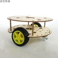 JMT R3W4 Robot DIY için Uzaktan Kumanda Araba Yükseltildi Şasi Çerçeve Yaratıcı Bulmaca Modeli Self-made RC Yedek parça aksesuar F19141