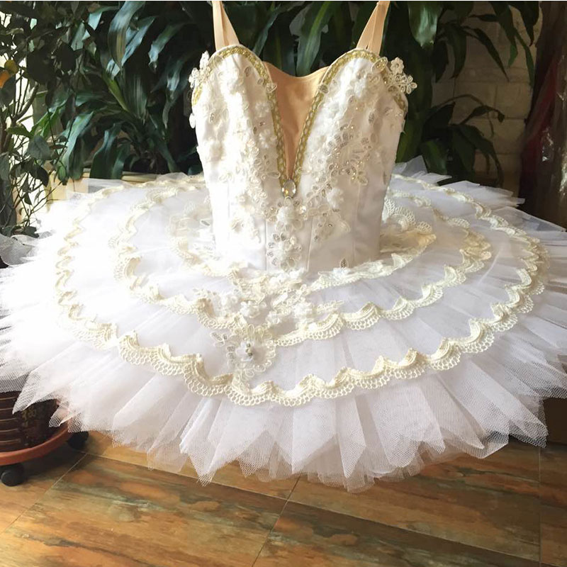 Customer size made professional ballet tutu, performance stage ballet tutu women girl ballerina dance tutu white ballerina tutu