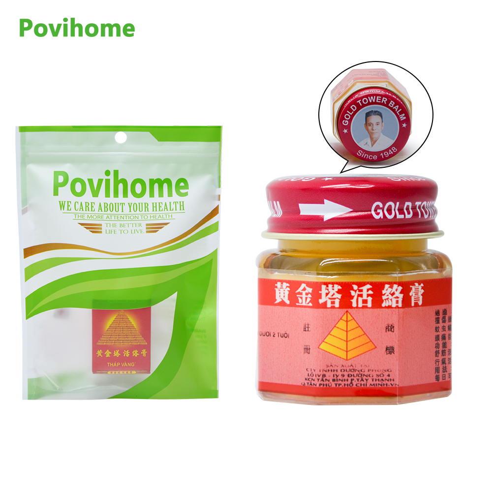 2Pcs 100% Original Vietnam Gold Tower Balm Ointment Pain Relieve Patch Massage Relaxation Arthritis White Tiger Balm D0170 vietnam coffee trung nguyen g7 100