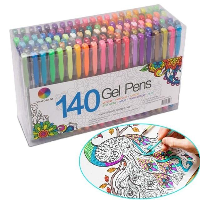 24/48 Office & School Caneta Desenho da Pena Do Partido Home Decor DIY Fluorescente Escovas Recargas Recargas Gel Aquarela Pinturas Coloridas