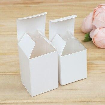 50 個 13 サイズ小さなキューブ包装紙ギフトボックス白手作り石鹸包装箱格安クラフト結婚式の好意紙ボックス