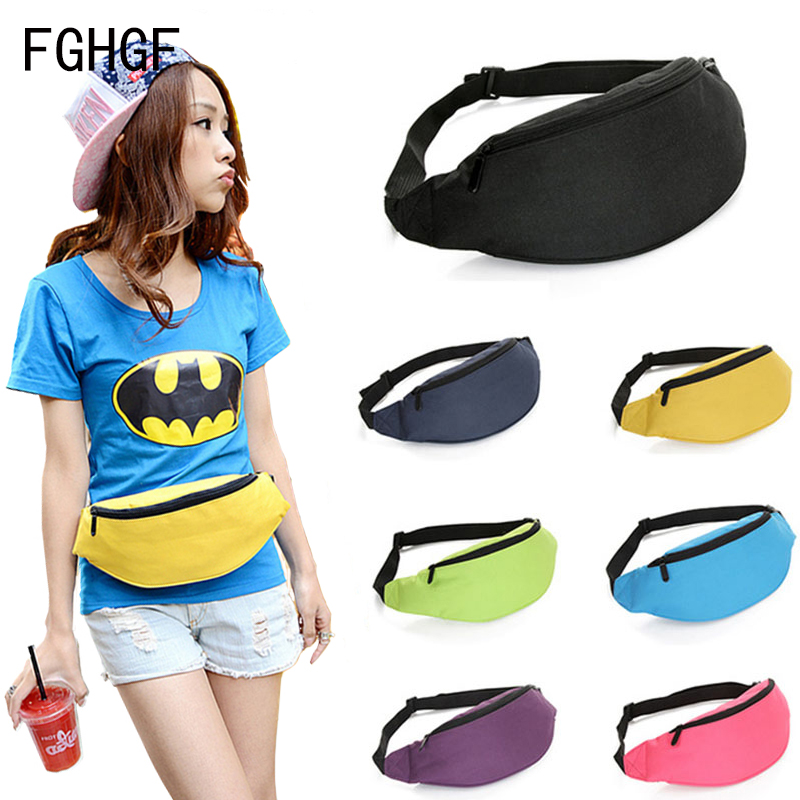 NEW Colorful Jogging Travel Waist Bag Big Capacity Sports Portable Cycling Outdoor Phone Holder Belt Bag Women Men Funny Pack in Running Bags from Sports Entertainment