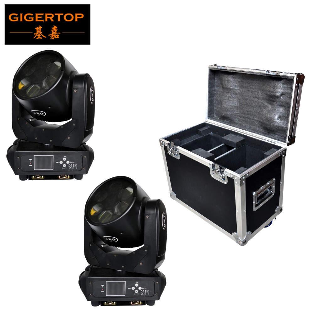 2IN1 Road Case Pack 6x25W Sharpy Beam Led Moving Head Light Rotation Glass Lens DMX DJ Moving Head Light RGBW Silent Working glass lens for flashlights 18mm 10 pack