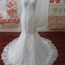 La MaxPa SG32 Sexy Wedding Dress Floor Length Court Train