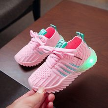 ARLONEET Children Kid Girls boys Led Luminous shoe Baby Single Party flat LED Run casual Non-slip Sneakers Sport Shoes CJ22(China)
