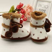 Winter Boots Soft Bottom Baby Moccasin Warm Non-slip Booties For Girls