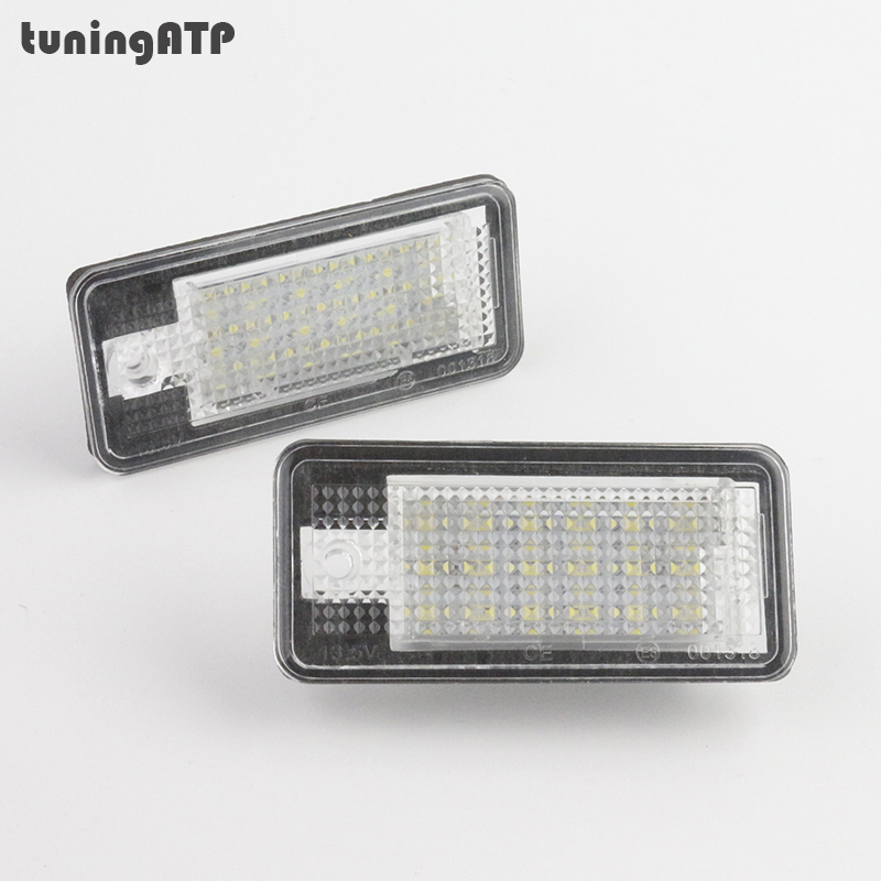 18-SMD <font><b>LED</b></font> License Plate Light Module for <font><b>Audi</b></font> A3 S3 RS3 8P / A4 S4 B6 B7 / A5 Cabriolet / A6 S6 RS6 C6 4F / <font><b>A8</b></font> <font><b>D3</b></font> / Q7 4L image