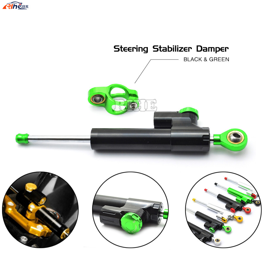 Steering Damper Universal Motorcycle CNC Stabilizer Linear Reversed Safety Control For Kawasaki Z1000 Z800 Z750 EX-300 YAMAHA r1 2015 brand new universal motorcycle cnc aluminum steering damper blue color stabilizer linear reversed safety control 5 colors