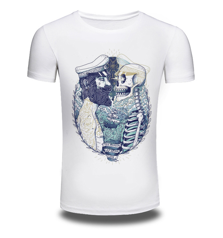 2017 Men/Women Summer Fashion Short Sleeve Brand Clothing T Shirt 3D Print Shirt T-shirt Animal White T-shirts Top Tee AW074