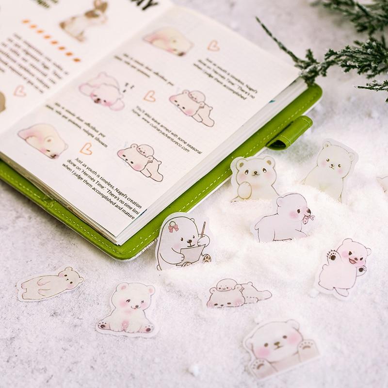 46Pcs//Box Cute Cat Mini Paper Stickers DIY Diary Scrapbookings Seal Sticker RS