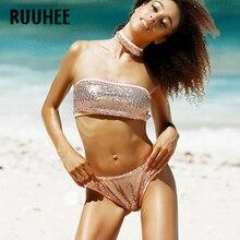 Women Swimsuit Bathing Suit Brazilian Sequins Beachwear
