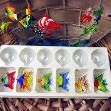 Floating glass fish - Aquarium Mini Fish Figurine Hand blown Lamp working Glass Miniature Blown