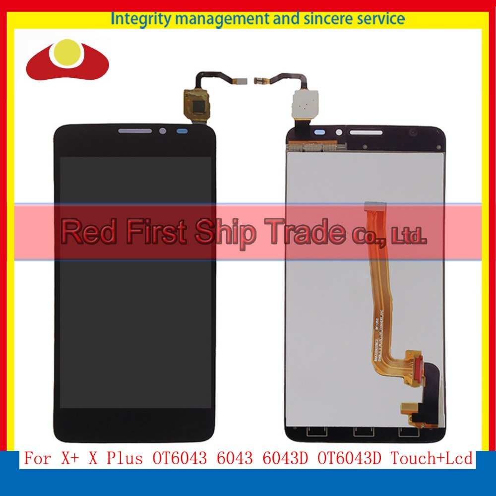 5.0 For Alcatel One Touch Idol X+ X Plus OT6043 6043 6043D Full Lcd Display Touch Screen Digitizer Assembly Complete Black White  white black 1 pcs for alcatel one touch idol x 6043 ot6043 lcd display with touch screen digitizer assembly free shipping