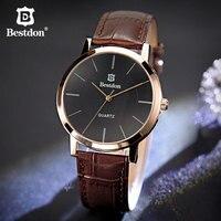Bestdon пара часов пара для мужчин и женщин японский квадратный наручные часы модные тенденции подарок для любителей минималистский бренд кож...