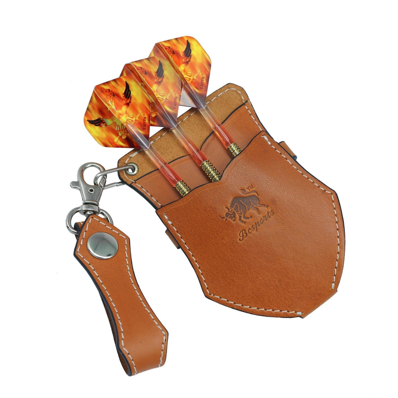 Plantation en cuir souple fléchettes sac Mode portable intégré doux fléchettes sac de rangement