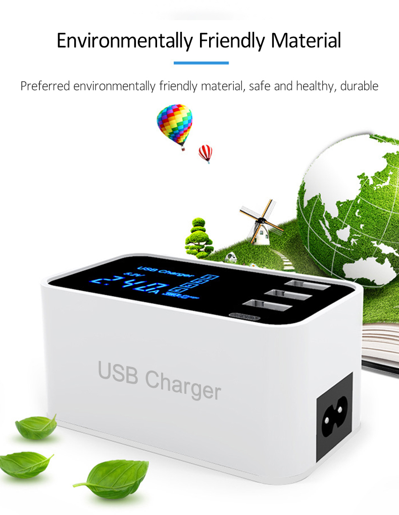 Quick Charge 2.0 Smart Type C USB Charger HUB Station (5)