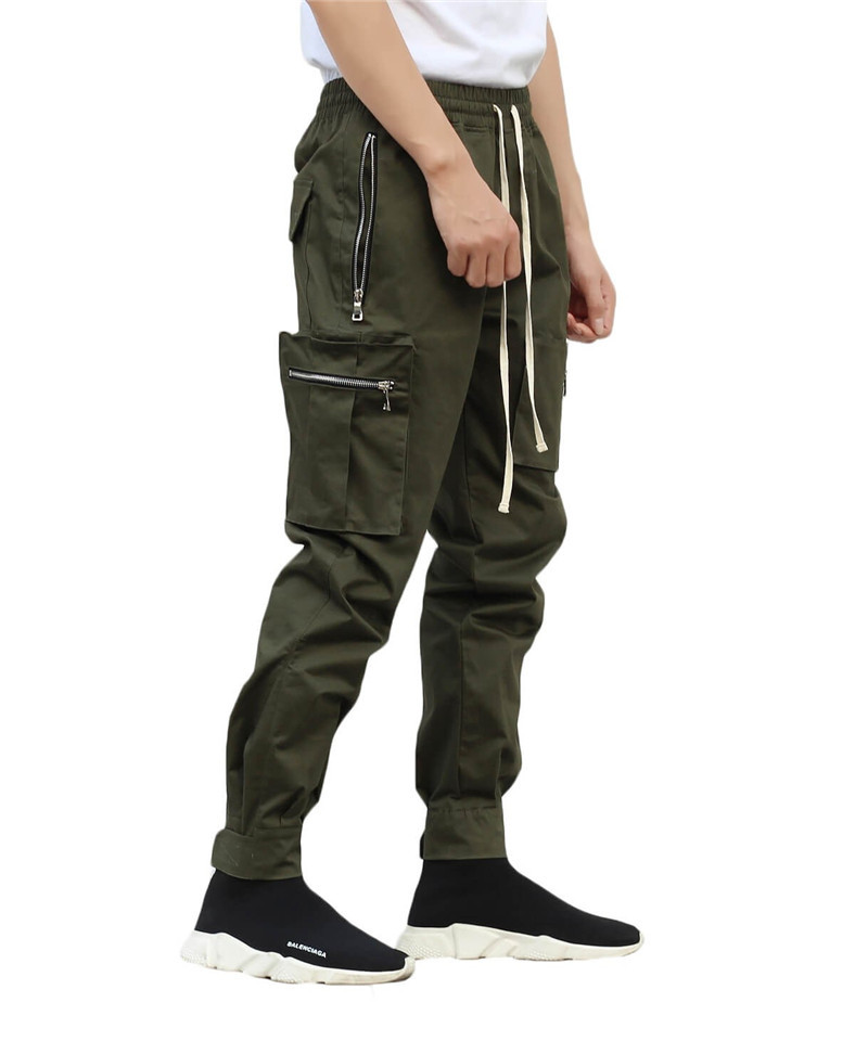 FRMARO Brand Men Multi-pocket Harem Hip Pop Pants Trousers Streetwear Sweatpants Hombre Male Casual Fashion Cargo Pants Men