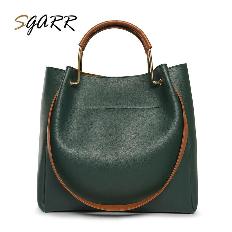 SGARR большой Ёмкость из искусственной кожи Для женщин сумки высокое качество роскошные дамы плеча Crossbody Сумки Мода Повседневное Для женщин С...