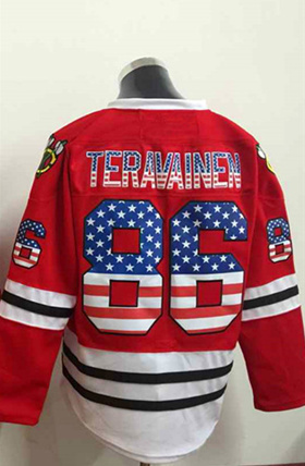 2015 new chicago blackhawks mens jerseys usa flag 86 teuvo teravainen red ice .