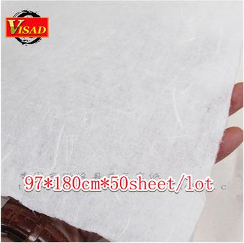 Chiński papier xuan ręcznie robiony papier ryżowy do malowania i decoupage 97*180cm darmowa wysyłka tanie i dobre opinie Malarstwo papier Chińskie malarstwo TAI YI HONG VD-BP-00042 white 50 sheet pack 1pack=1lot