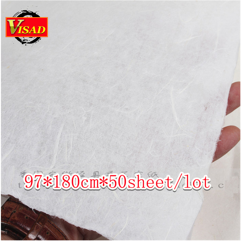 Chinese xuan paper,hand-made rice paper for painting and decoupage, 97*180cm free shipping free shipping 100 pieces lot 7 colors hand made chinese rice paper for painting and decoupage 64 135cm xuan paper