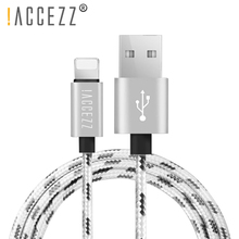 !ACCEZZ Nylon USB Charging Cable For Apple iPhone XR XS MAX 8 7 6S Plus Fast Sync Data iPad Phone Charge Line