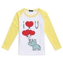 Limited Time Discount Boys Raglan Long Sleeve Tops Girl t Shirt Rhinoceros Printed O-Neck Color Block T-Shirt Kids Tshirt S-XXXL color block single pocket t shirt