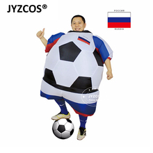 285425d68 JYZCOS Fantasias para Adultos Mascote De Futebol De Futebol Inflável Blow  Up Vestido de Festa Fantasia