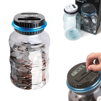 Electronic Digital LCD Money Boxes Counting Coin Money Saving Box Jar Coins Storage Box Pot Showing Jar Piggy Home Decoration Мотоцикл