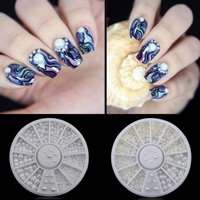 3 Maten Nail Art Baby Parel Strass Nail Art Decoratie Nail Ontwerp