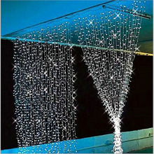 Top 3Mx3M led curtain string fairy light bulb 110v 220v Xmas Christmas Wedding home garden party garland decor night light