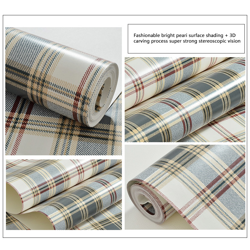 89 Best Whats New In Wallpaper Paint Fabric Images On: Embossed 3D Non Woven Fabrics Scotland Tartan Wallpaper