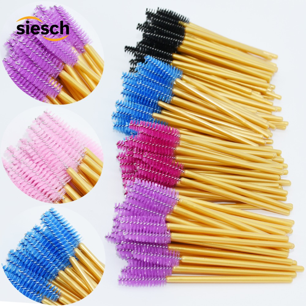10PCS New Eyebrow Eyelash Brush Comb Mascara Wands Eye Lashes Extension Tool Professional Beauty Plastic Nylon Make Up Brushes