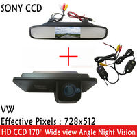 WrielessCar Rear View Camera Video Transmitter Receiver SONY CCD Car Camera FOR VW GOLF 4 5
