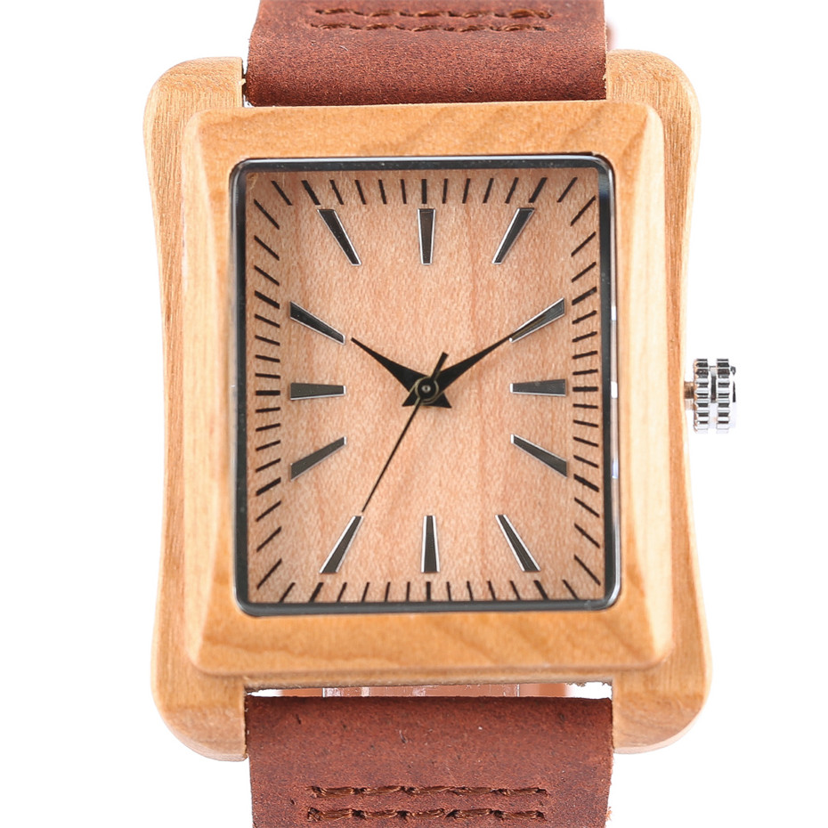 genuine leather band nature wood watch18