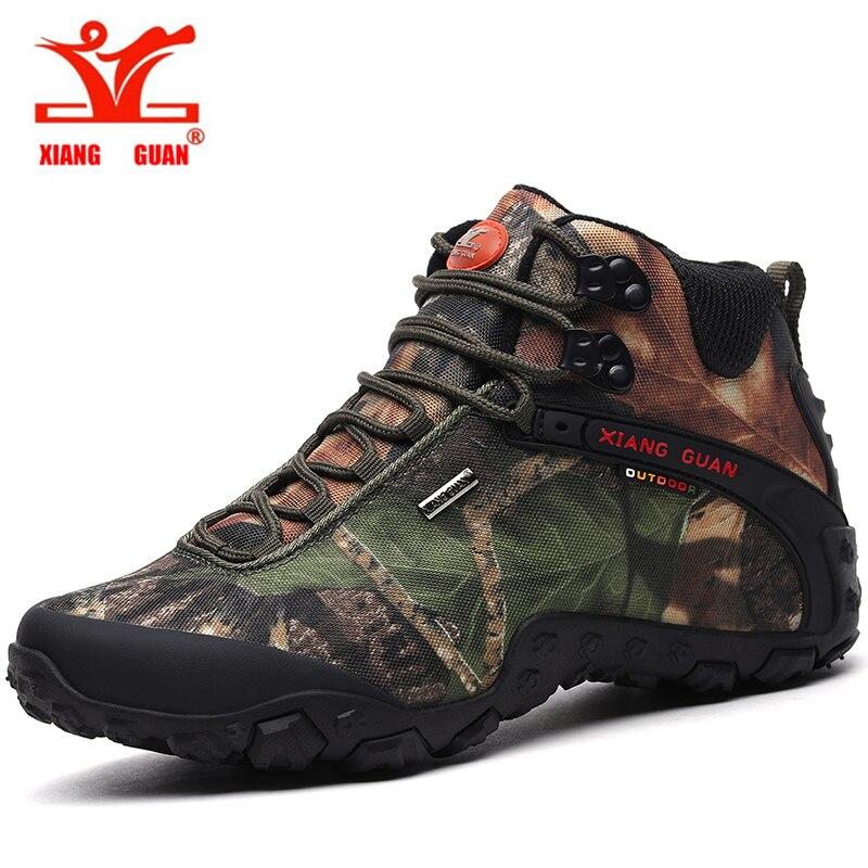 Xiang Guan hommes en plein air Randonnée chaussures femmes toile sport trekking bottes Anti-dérapage Usure de Montagne Escalade Chaussures 36- 48