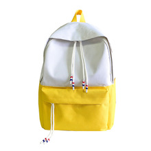 2019 Simple Style Shoulder Backpack New Leisure Campus Style Student Packbag Schoolbag Simple Fashion Travel Backpack Waterproof