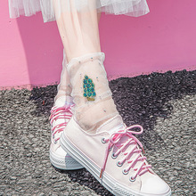 Summer Sexy Ultra-thin Elastic Wear-Resistant Silk Women Socks Cool Transparent Crystal Short Female For Woman