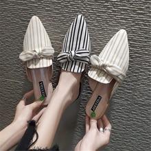 купить TXJ Luxxury Summer Woman Shoes Women Slides Slippers for Ladies Mules Elegant Bowknot Butterfly Slippers Slip On Loafers Mules по цене 1051.98 рублей