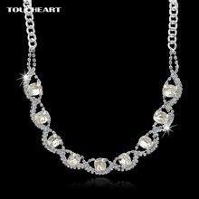 Женское Ожерелье чокер toucheart серебряное ожерелье с подвеской