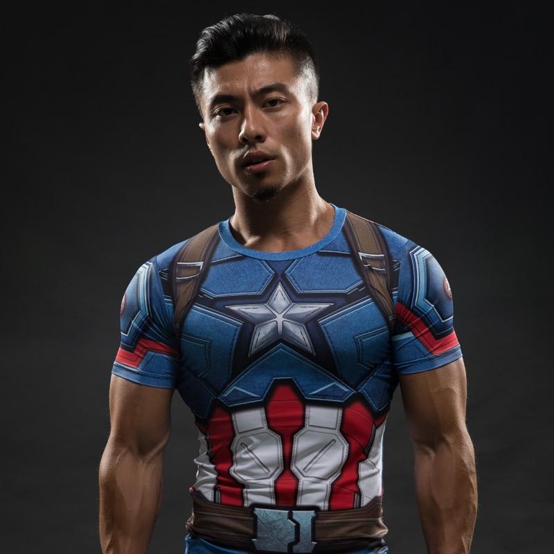 Iron Man 3D Impreso Camiseta Capitán América Guerra Civil Tee - Ropa de hombre