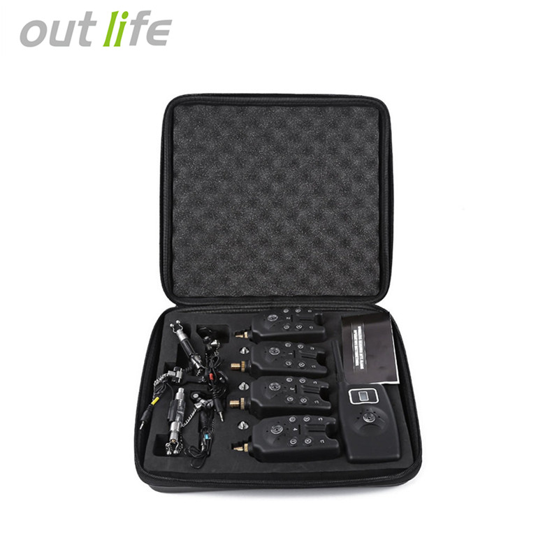 JY-19-SW Fish Fishing Alarm Bite Set Wireless Fishing Alarms Bells Carp Light For Tackle Rod Fishing With LCD Screen Indicator