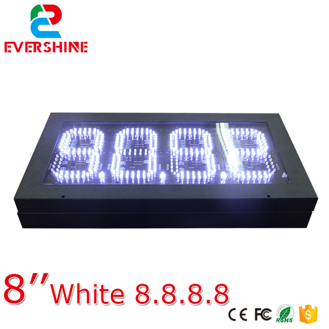 Segment Oil Gas Fuel White Digital Numbers Led Petrol - Car sign with namesonline get cheap d led sign aliexpresscom alibaba group