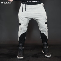 WZZAE Top Quality Fitness Casual Men Joggers Pants 2017 Brand Muscle Brothers Trousers Men S Stitching