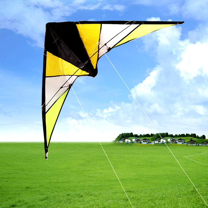 Hand Double-line Stunt Kite 1.4m Four-line Operation Air Stunt Kite Is Simple And Easy To Fly, Beautiful Shape, Beginner Kite.
