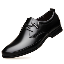 2019 Autumn Newest Arrival Men Business Dress Shoes Loafers Fashion Style High Quality Big Siz Lace-up Soft DA0144