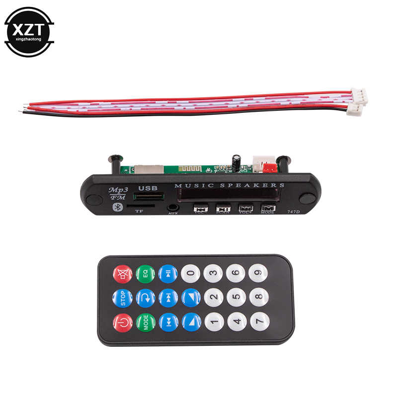 12 V MP3 デコーダボード黒のリモート SD MP3 プレーヤーリモート制御モジュール FM USB 2.0 3.5 ミリメートルジャックコネクタのための車